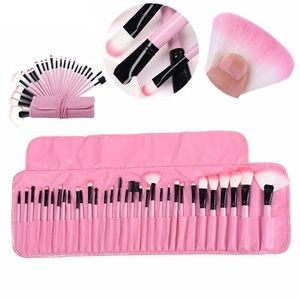 32 Pcs Makeup Brushes Pink